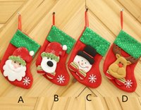 Wholesale Decorations For Boots - New Arrive Christmas Decoration For Home Gift New Year Christmas Boot Decoration Ornaments Supplies