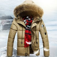 Wholesale Nice Hats For Men - Fall-Nice New Fashion White Duck Down Winter Jacket For Men Loose Thick Hooded Men Parka Outdoor Wear Long Winter Jacket Men AW1122