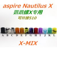 Wholesale Electronic Cigarette Mouth Pieces - nautilus X tip Plastic Drip Tips wholeale 510 mouth pieces for Vivi Nova 510 Electronic Cigarette Clearomizer atomizer with fast delivery
