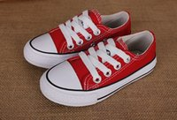 Wholesale Denim Canvas Shoes Boy - 2016 Drop Shipping New Unisex Low-Top Adult children Canvas Shoes 10 colors Laced Up Casual Shoes Sneaker Boys and girls shoes