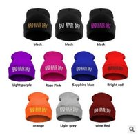 bf51c2b92902a 11 Colors Winter Unisex Warm Knitted Beanies Hats Fashion Bad Hair Day  Letter Printed Beanie Hip Hop Sports Hat Ski Cap CCA6959 100pcs