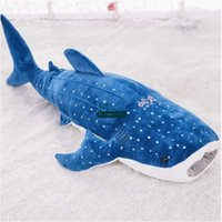 Wholesale Blue Whale Shipping - Dorimytrader New 59''   150cm Jumbo Stuffed Soft Animal Whale Doll Plush Large Blue whale Toy Nice Baby Gift Free Shipping DY60491