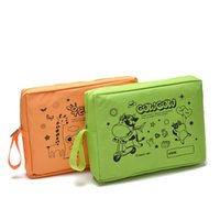 Wholesale Woman Bright Color Bags - Cartoon Square Waterproof Cosmetic Bag Toiletry Kits Bright Color Women Hand Bag