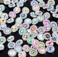 Wholesale Earrings Supplies - wholesale -- 18 mm noosa button DIY button pendant earrings bracelet accessories foreign trade jewelry supplies Metal Snap Button 4050