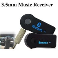 Hot Music Receiver universal de 3,5 mm Transmissão Car A2DP Bluetooth Wireless AUX Áudio Music Receiver Adaptador com microfone para o telefone MP3 OTH273