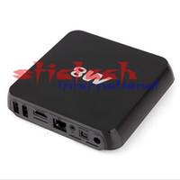 Wholesale Android Tv Xbmc Quad Core - 10 pieces Quad Core XBMC Android TV Box M8 Amlogic S802 2G 8G2.4G 5G Dual WiFi Mali450 GPU 4K HDMI Bluetooth