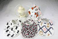 Wholesale Muslin Bibs - 8styles miracle Baby Bibs 2016 ins Cartoon Animal Cotton bibs Muslin Anais baby soft Burp cloths 3 layers Feeding bibs
