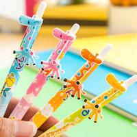 Wholesale Giraffe Pens - Lovely 20pcs Lot Giraffe Shape Ballpoint Pens Office School Student Prize Gifts Christmas Present Free Shipping Writing Pen Papelaria