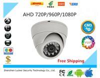 Wholesale Ir Night Vision Dome Camera - HD 720P 960P 1080P Dome AHD Camera 1MP 1.3MP 2MP CMOS Security Night Vision IR 10m CCTV Camera For AHD DVR Free Shipping
