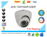 Compra Telecamere Di Sicurezza Dome Dvr-HD 720P 960P 1080P Dome AHD Fotocamera 1MP 1.3MP 2MP CMOS Security Night Vision IR 10 m CCTV Camera per AHD DVR Spedizione gratuita