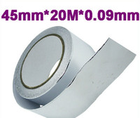 Wholesale Exhaust Temp - Wholesale-free shipping 45mm*20m*0.09mm Aluminum Foil Heat Shield Tape Temporary Exhaust Pipe Ducts Repairs Duct Tape High Temp Resistant