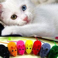 Wholesale Realistic Mouse - 1Pc New Wholesale Funny Cat Toy Hot Sale Little Mouse Realistic Sound Toys For Cat For Dog Pet Kitten Pet Playing (Random Color) order<$18no