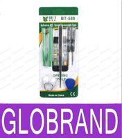 Wholesale Wholesale Packaged Tweezers - Repair Kit Opening Tools for iPhone 4 4S BST-588 Screw Driver & Pry Tool & Triangle Picker & Vacuum Sucker & Tweezers Retail Package GLO6