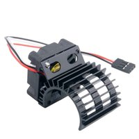 RC HSP Black Alum 380 390 Motor Dissipatore DC 7.2V Brushless Fan per 1:16 Truck
