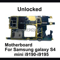 Wholesale S4 I9195 Mini - Wholesale-Original Unlocked For Samsung galaxy S4 mini i9190 i9195 motherboard ,100% working mainboard with software logic system board