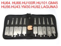 Wholesale Car Key Decoder Tools - Auto 2 in 1 decoder and lock picks European car models 10pcs of one pack use for HU64 HU66 HU100R HU101 GM45 HU56 HU43 YM30 HU92 LAGUNA3 key