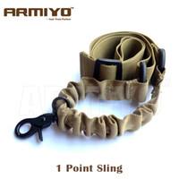 Armiyo 1 Point Shoulder Strap Rifle Mission Sling Bungee Strap Hook Nylon Belt Swivel Buckle Hunting Gun Accessories