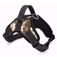 Wholesale Collars For Big Dogs - New Big Dog Soft Adjustable Harness Pet Oxford Large Dog Walk Out Harness Vest Collar Hand Strap for Small Medium Large Dogs