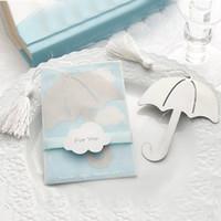 Wholesale book tassels resale online - Umbrella Metal Bookmark With Tassel Creative Design Practical Book Decor Teacher Day Gift Wedding Delicate Souvenirs fg F R