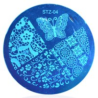 Wholesale fashion design stencils - Wholesale- 1pcs Nail Art Polish Image Stamp Stamping Plates Template Fashion Butterfly Flower Designs Manicure Nail Stencils Decor STZA04