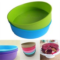 Wholesale 10 quot Round Silicone Cake Mold Pan Muffin Chocolate Pastry Baking Tray Mould