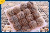 Wholesale Solar Led Light Cap - Wholesale- natural color Rabbit Fur pompom 8CM for Beanies hats cap keychain bags natural fur balls real natural fur pom poms on sale