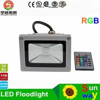 Wholesale Outdoor Colour Changing Light - Floodlight Waterproof 10W RGB Outdoor LED Flood Light Colour Changing Spot Light Lamp power bright led high bay light