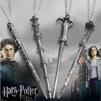 Wholesale Rod Necklace - Wholesale- MOVIE Magic Rod Wand Pendant Necklace 4ND181