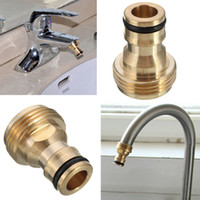 Wholesale Tap Nozzles - 2017 Hot Tap Brass Garden Hose Pipe Tube Quick Connector Watering Equipment Spray Nozzle