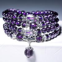 Bracelets Bangles For Unisex Women Men Buddhist Prayer Amethyst Crystal  Natural Stone Bracelet Necklace Strands Charms Mala Beads Bracelets bccd091bedec
