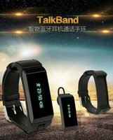Wholesale Golden Earphones - New Arrival Smart Wristband Bluetooth Earphone Sport Fittness Tracker Bracelet with Earphone Function Support Andriod and IOS DHL Free
