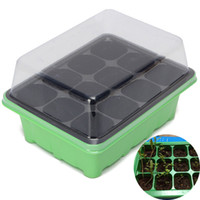 Wholesale Plastic Garden Boxes - 12 Holes Plant Seeds Grow Box Seeds Sprout Tray Garden Tools