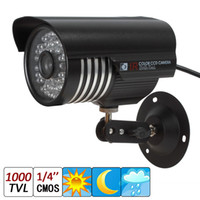 "Wholesale Ir Cameras 48 Led - 1000TVL 1 4"" CMOS 6mm Lens 48-IR LED Waterproof Bullet Security Camera with IR-CUT capable of up to 30 meters night vision recording"