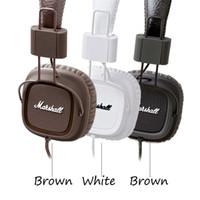 aaa qualidade iphone venda por atacado-Marshall principais fones de ouvido dj estúdio fones de ouvido major eu marshall graves profundos isolamento de ruído fone de ouvido monitorring para iphone samsung aaa qualidade
