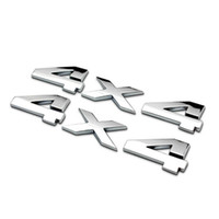 Compra Decalcomanie 4x4-Car Emblem Metal Chrome 3D 4X4 Displacement Emblem Badge camion auto decalcomania autoadesivo per SUV