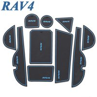 Wholesale Rav4 Interior - 2014 2015 Toyota Rav4 Rav 4 Car Anti Slip Mat Sticker Gate Slot Pad Door Carpets Interior Car Styling Accessories 11 pcs set