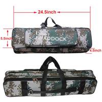 ingrosso sacchetti di tackle impermeabili-62CM / 24.5-Pollici Oxford impermeabile Canna da pesca Reel Bag Case Travel Organizer Tackle Tool Gear Storage Bag Case