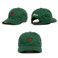 Vert Rose Noir Marine Khaki Bleu Ciel Hop Hip bouchon de balle de THE HUNDREDS Fleur Rose Embroidery Curved Summer Snapback Baseball Cap
