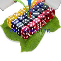 Wholesale Dices Sets - 24Pcs Set 16MM Rounded Corners custom color dice set Four-Color Transparent Dice