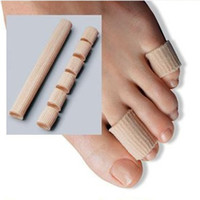 Wholesale silicone tubing for sale - Group buy Nylon tube gel liner toe protector silicone gel tubing Fabric Covered Toe Tube bunion Protector Corns Calluses Toe Separator