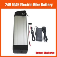 Wholesale 24v Battery Chargers - Rechargeable 24V 350W Lithium ion Battery 24V 10AH Ebike battery pack with 15A BMS 2A charger bottom discharge free shipping