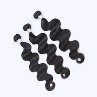 Wholesale Cheaper Weave Hair - factory direct sell cheaper 8A Brazilian Body Wave Bundles Unprocessed Peruvian Indian Malaysian Cambodian Russian Hair Extensions 3PCS lot
