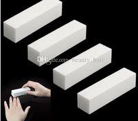 beyaz blok tamponları toptan satış-4 Adet / grup Nail Art Tampon Dosya Bloğu Pedikür Manikür Parlatıcı Zımpara Polonya Beyaz Makyaj Güzellik Araçları
