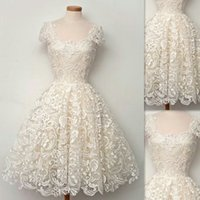 Wholesale Lace Mini Dress China - Lace Cocktail Dresses Short 2016 Actual Image Ivory Corset Cap Sleeve Graduation Prom Party Gowns A-line Made In China