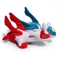 ingrosso giocattoli di roba anime-All'ingrosso-Anime Latias Latios giocattoli peluche ripiene bambole con etichetta 12