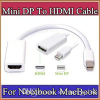 Wholesale Mini Displayport Converter For Display - Thunderbolt Mini DisplayPort To HDMI Adapter Display Port Hub Male Female DP Cable Converter For iMac Macbook Pro Air Laptop B-PS