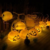 Wholesale Party Outdoors Lights Bar - 10 20 LED 1.5M 3.0M Halloween Decor Pumpkins Ghost LED String Lights Lanterns Lamp for DIY Home Bar Outdoor Party Supplies