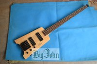 Wholesale Headless Bass Guitars - free shipping new Big John 4 strings headless electric bass guitar in natural color with basswood body F-3318