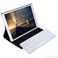 Wholesale Ipad Bluetooth Pen - Wireless Bluetooth Keyboard Stylus Pen 360 Degree Rotating PU Leather Smart Case Cover for iPad Pro inch B