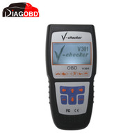 Wholesale Obd2 Checker - Wholesale-V-CHECKER V301 OBD2 Professional CANBUS Code Reader With Fast Shipping